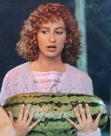 Nobody puts Baby in a corner... but they occasionally make her carry ovoid fruit. Original still from Dirty Dancing. Photo from pinkpeonies73.blogspot.com