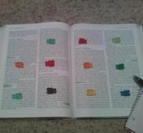 One gummy bear per paragraph? Sounds reasonable. I didn't take this picture.