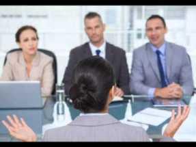 job interview stock